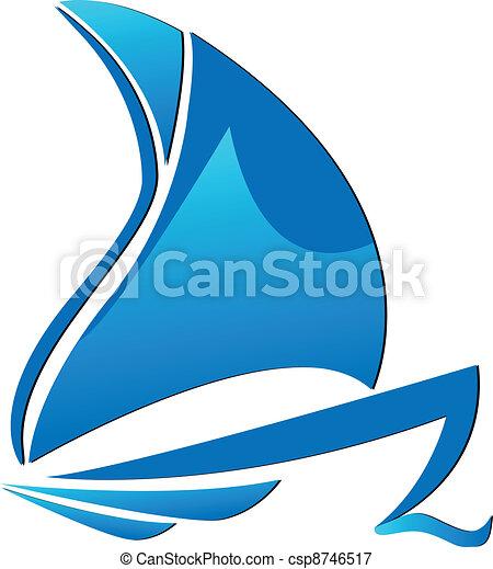 logo, symbole, bateau, créatif - csp8746517