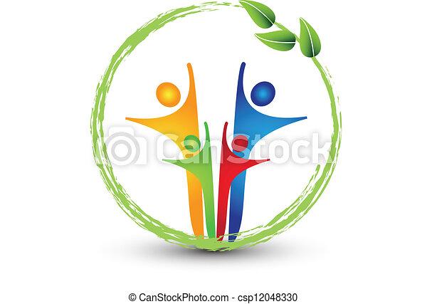 logo, système, famille, écologie - csp12048330