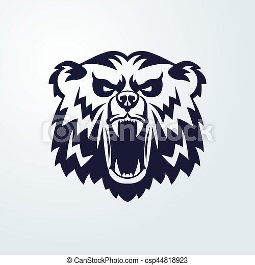 Passé revisité  Logo-t%C3%AAte-embl%C3%A8me-ours-mascotte-illustration_csp44818923