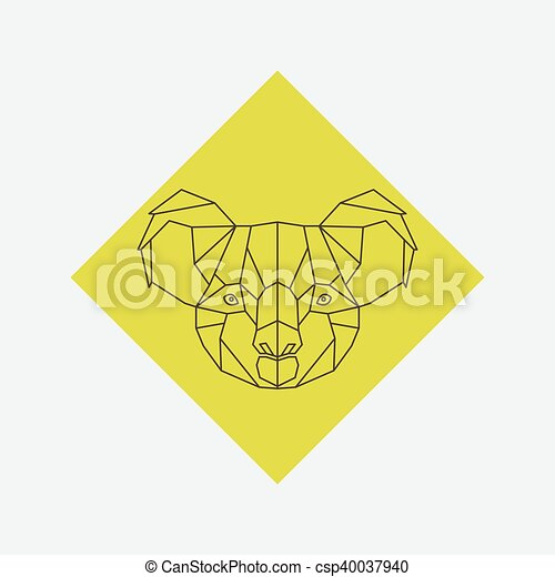 Logo Tete Koala Tatouage Tete Koala Triangle Elements