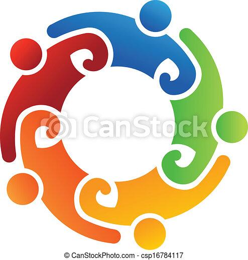 logo, team, 5, vrijwilliger - csp16784117