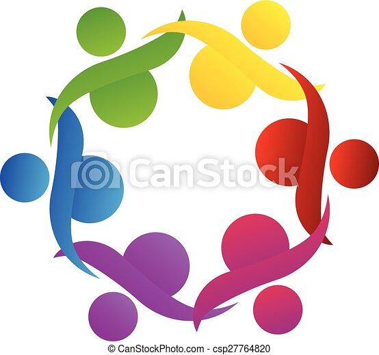 Logo teamwork community help - csp27764820