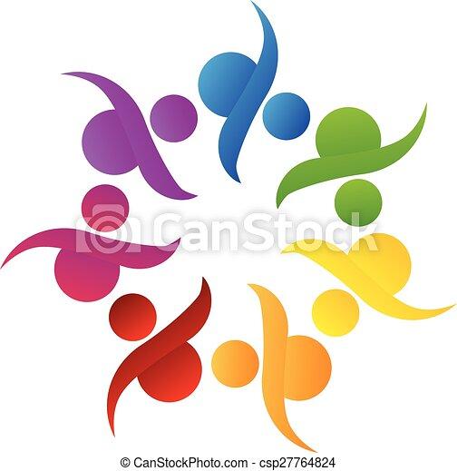 Logo teamwork community help - csp27764824