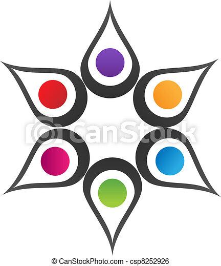 logo, teamwork, løsning - csp8252926
