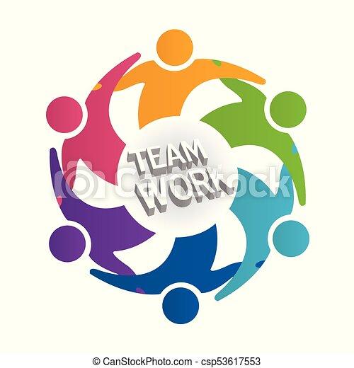 Logo teamwork people - csp53617553