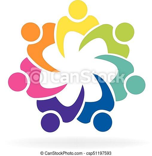 Logo teamwork people - csp51197593