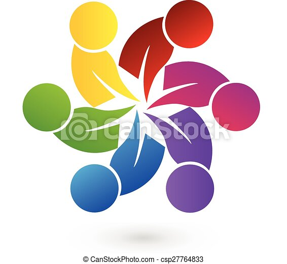 Logo Teamwork People Logo Concept Of Community Unity Goals