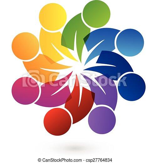 Logo teamwork people - csp27764834