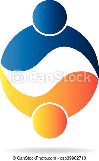 Logo teamwork people - csp39902710