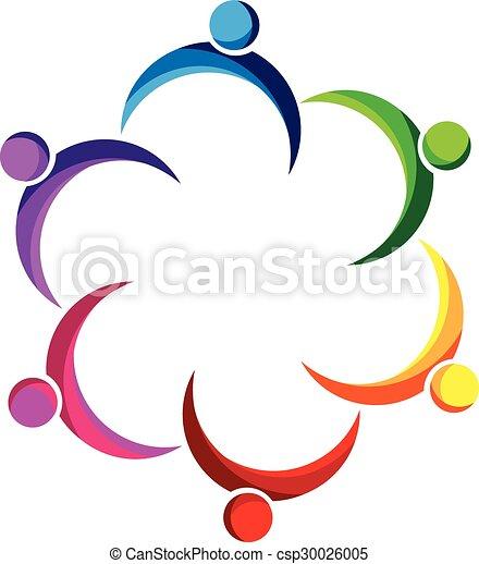 Logo teamwork people  - csp30026005