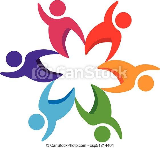 Logo teamwork people - csp51214404
