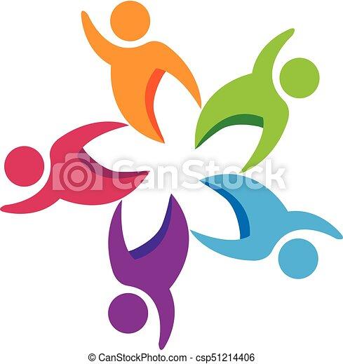 Logo teamwork people - csp51214406