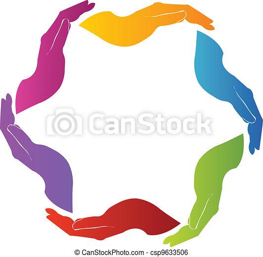 logo, teamwork, solidarność, siła robocza - csp9633506