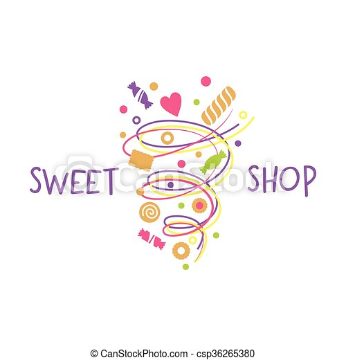Logo template for confectionery, bakery. Logo template for ...