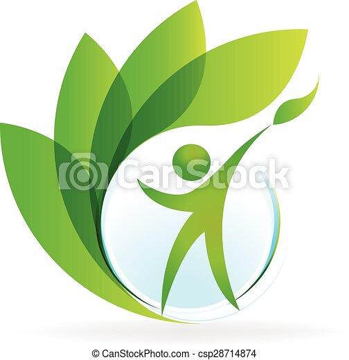 logo, vector, gezondheid, natuur - csp28714874