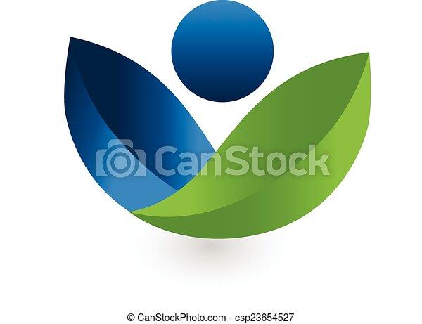 logo, vector, gezondheid, natuur - csp23654527
