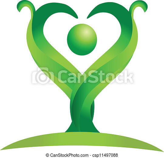 logo, vektor, grønne, figur, natur - csp11497088