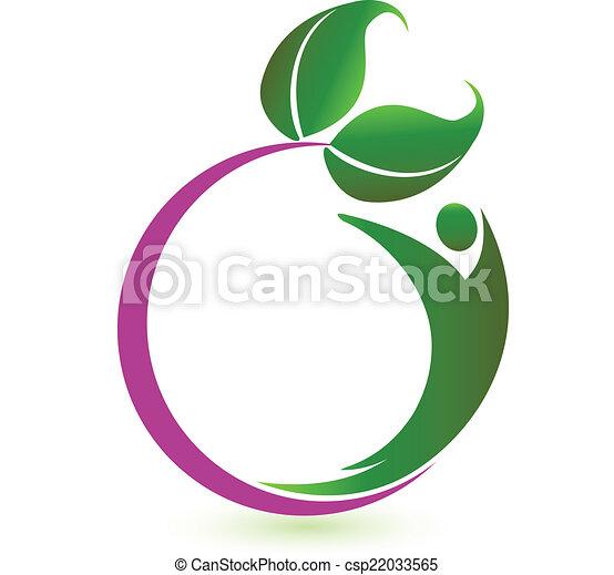 logo, vektor, sundhed, natur - csp22033565