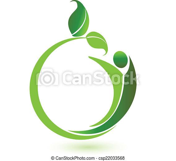 logo, vektor, sundhed, natur - csp22033568
