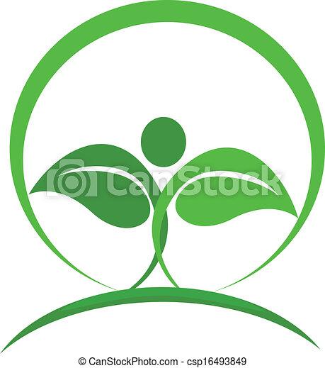 logo, vektor, sundhed, natur - csp16493849