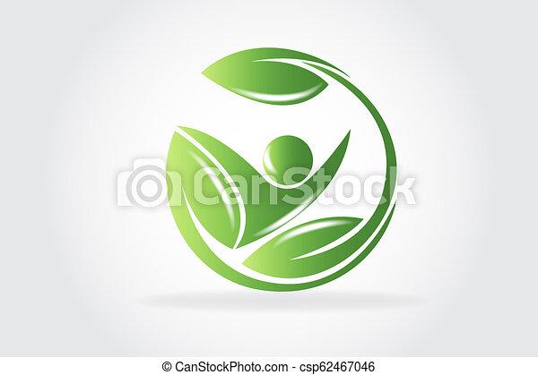 logo, vektor, sundhed, natur - csp62467046