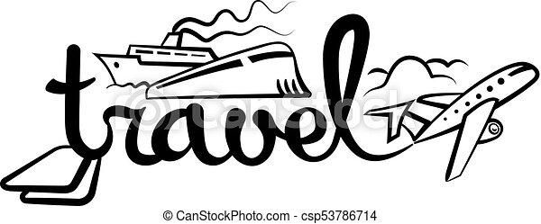 logo, voyage, croisière - csp53786714