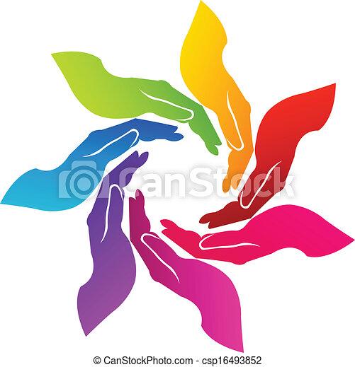 logo, vrijwillig, handen - csp16493852
