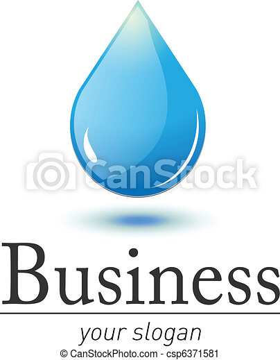 Logo water drop - csp6371581