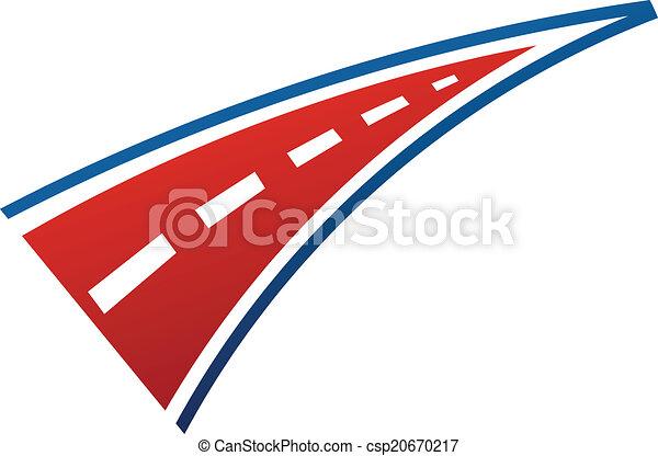 logo, wizerunek, pas, droga - csp20670217