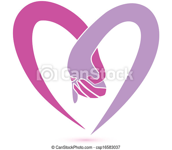 logo, zusammen, hände - csp16583037