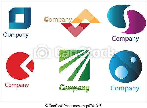 logos, business, échantillons, meute - csp9761345