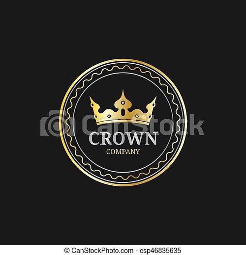 Logos Monogramme Set Krone Korona Vektor Luxus Design