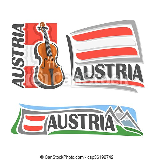 logotipo, áustria, vetorial - csp36192742