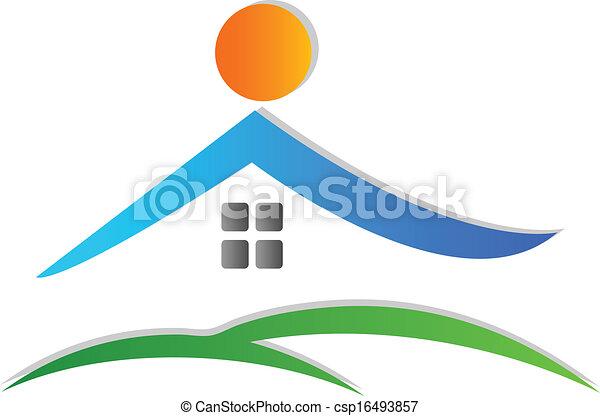 logotipo, ícone, casa - csp16493857