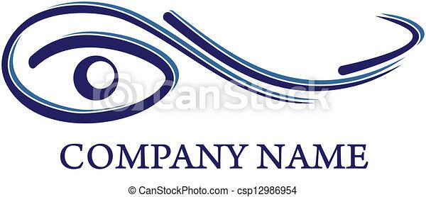 logotipo, óptico, - - csp12986954