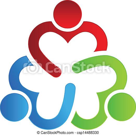 Diseño de logo de negocios compartiendo 3 - csp14488330