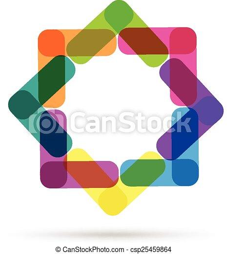 logotipo, abstratos, cartão negócio - csp25459864