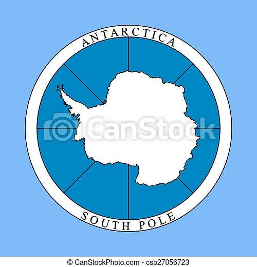 logotipo, antartide, continente - csp27056723