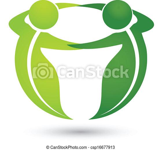 logotipo, apps, mette foglie, squadra - csp16677913