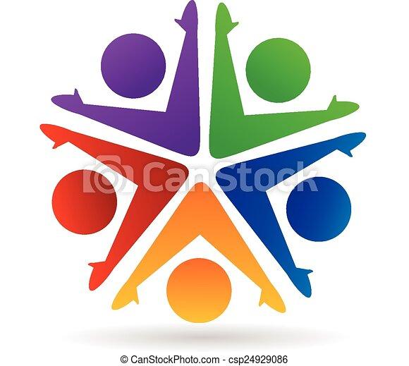logotipo, associazione, lavoro squadra - csp24929086
