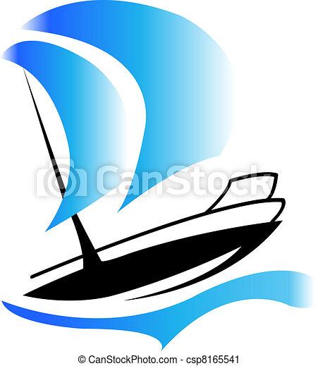 logotipo, barca - csp8165541