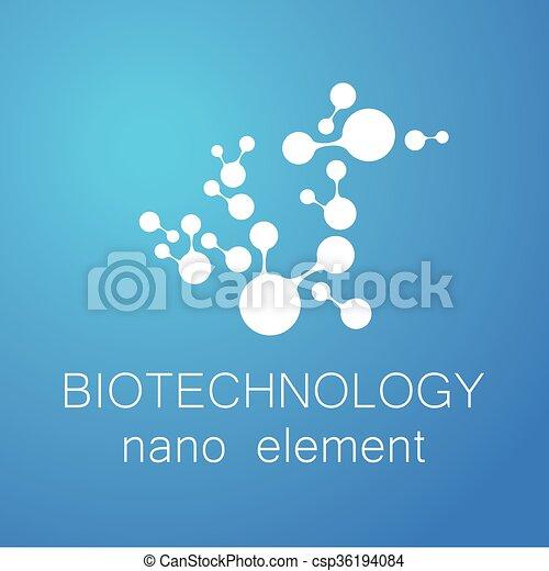 logotipo, biotecnologia, nano - csp36194084