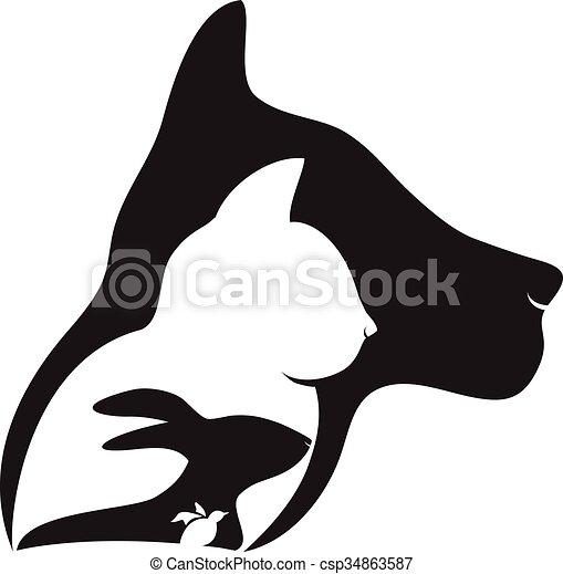 Logotipo Cachorro Passaro Coelho Gato Cao Gato Vetorial