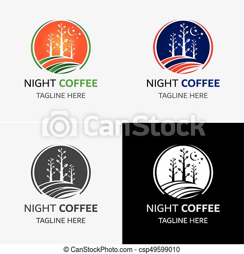 logotipo, caffè, sagoma - csp49599010