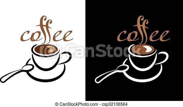 logotipo, caffè - csp32106564