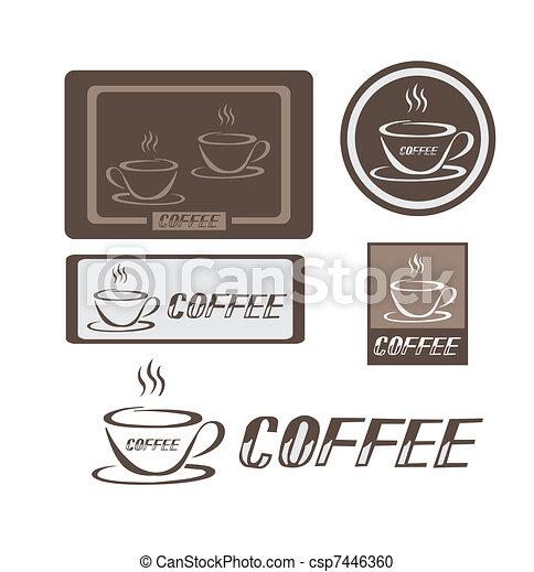 logotipo, caffè - csp7446360