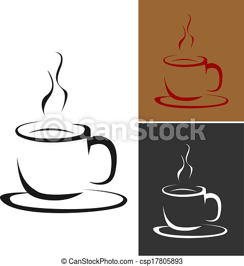logotipo, caffè, vettore - csp17805893