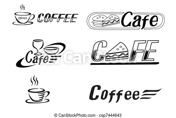 logotipo, caffè - csp7444643