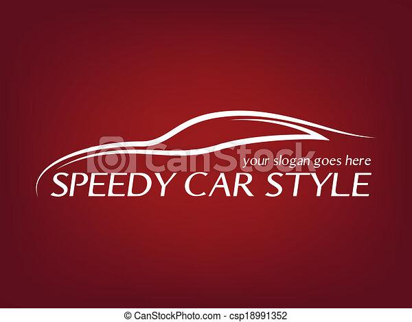 Logo de coche caligráfico - csp18991352