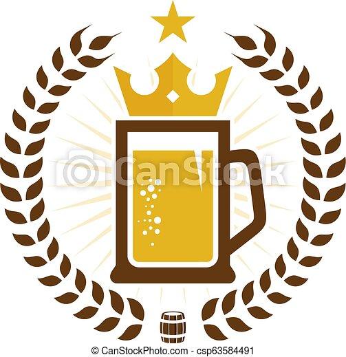 Logotipo Cerveja Icone Coroa Desenho